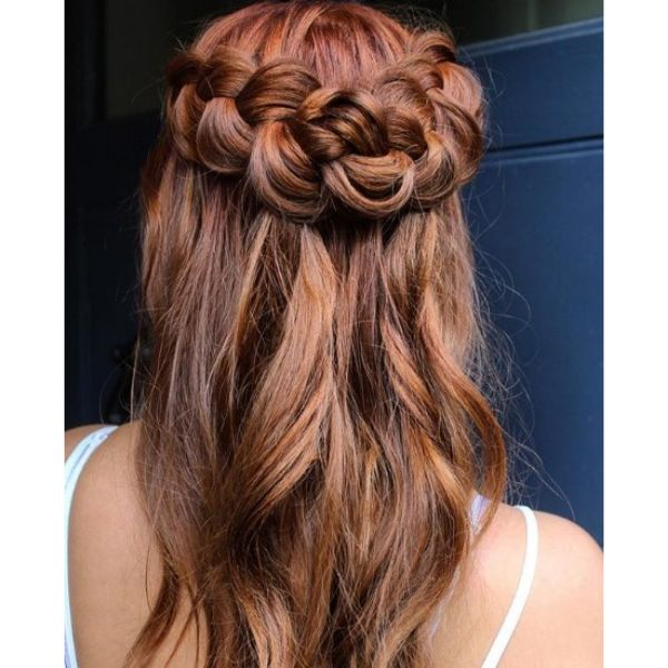 Soft Waves and Braids Hairstyle