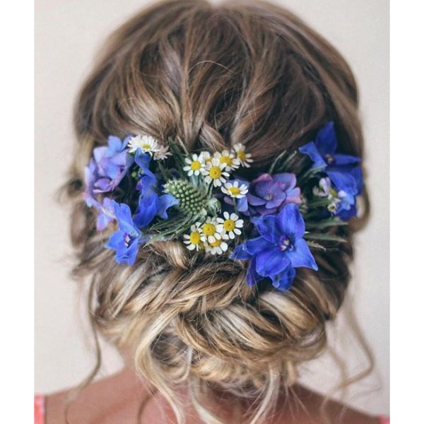 Summer Inspired Hairstyle with Falling Strands
