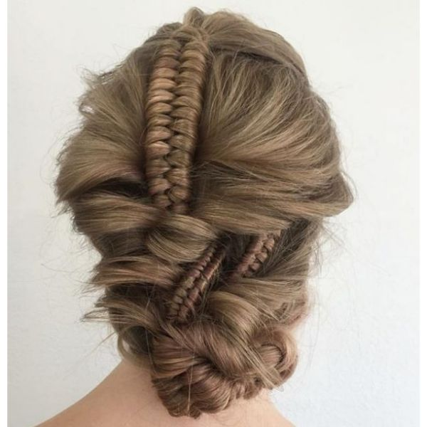 Twisted Knot With Infinity Braids Hairstyle