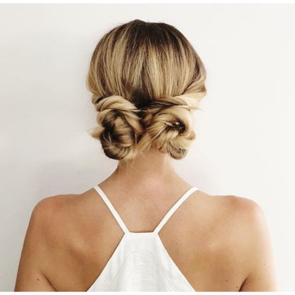 Twisted Low Buns Hairstyles