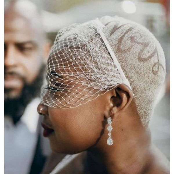 Ultra-short Fade with Headpiece