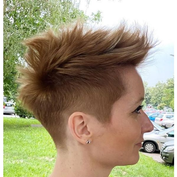 Warm Blonde Faux Hawk Hairstyle