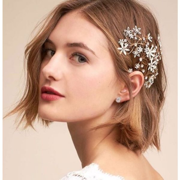 Wob With Hair Piece bridal hairstyles