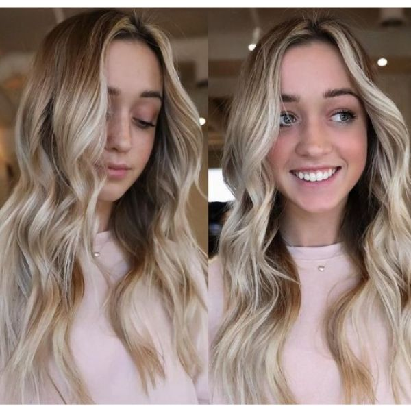 Blonde Highlights For Long Layered