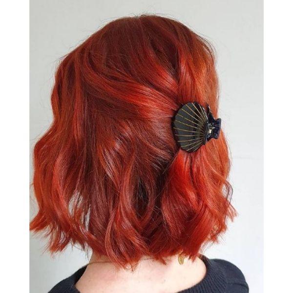 Bright Copper Hair with Red Colored Strands