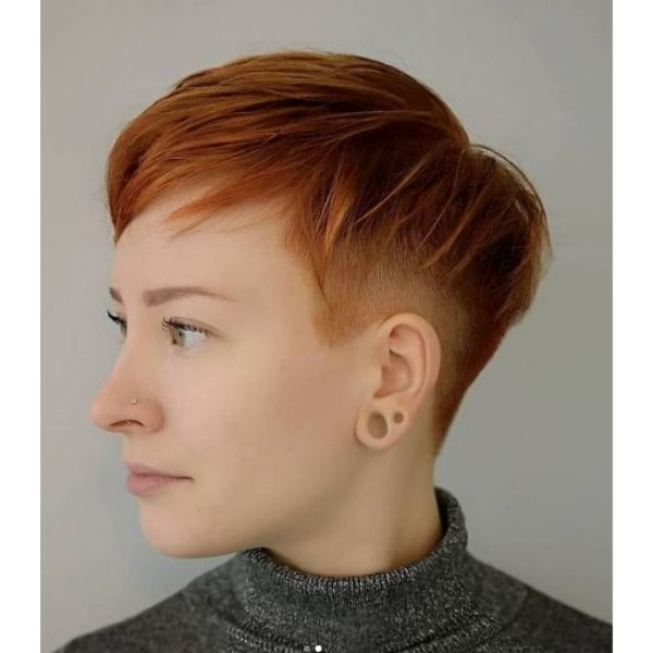 Copper Red Pixie Cut haircuts for teenage girls