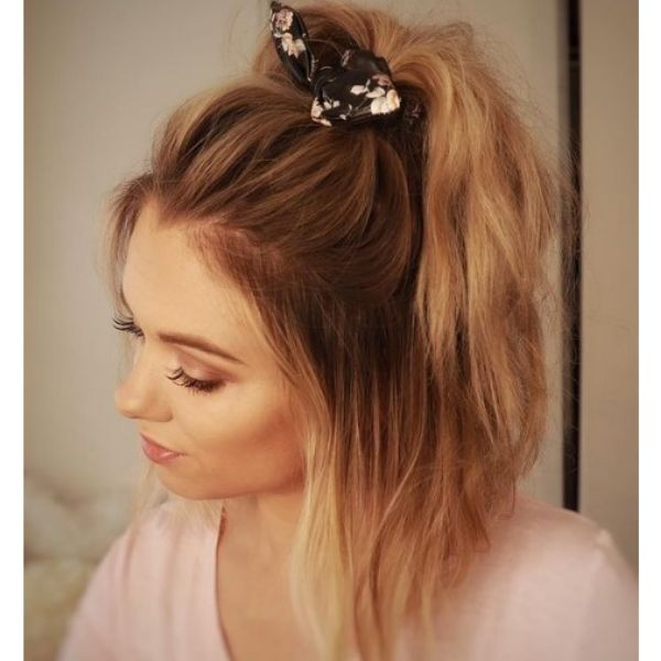 Half Ponytail with Hair Accessory haircuts for teenage girls