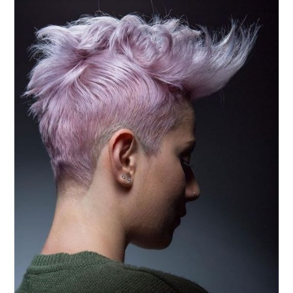 Pastel Pink Punk Mohawk with Undercut Hairstyle haircuts for teenage girls