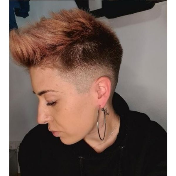Pink Bright Undercut with Shaved Sides Hairstyle haircuts for teenage girls