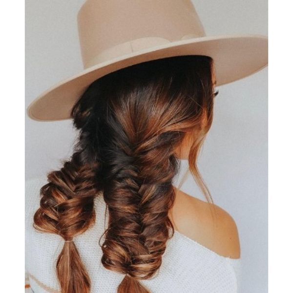 Simple Fishtails Hairstyle For Teenage Girls haircuts for teenage girls