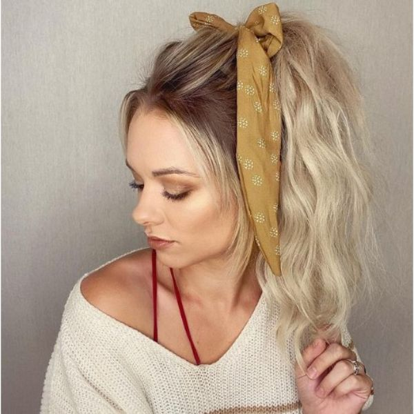 Volumized Ponytail with Hair Ribbon haircuts for teenage girls