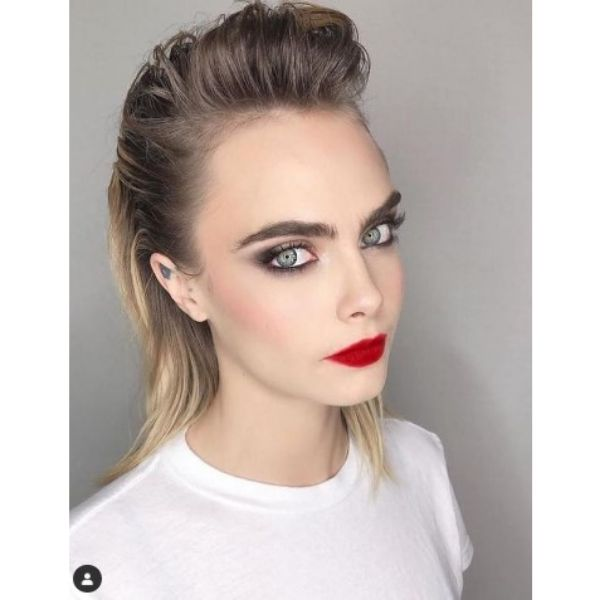 Cara Delevigne's Slick Back Hairstyles For Blonde Hair