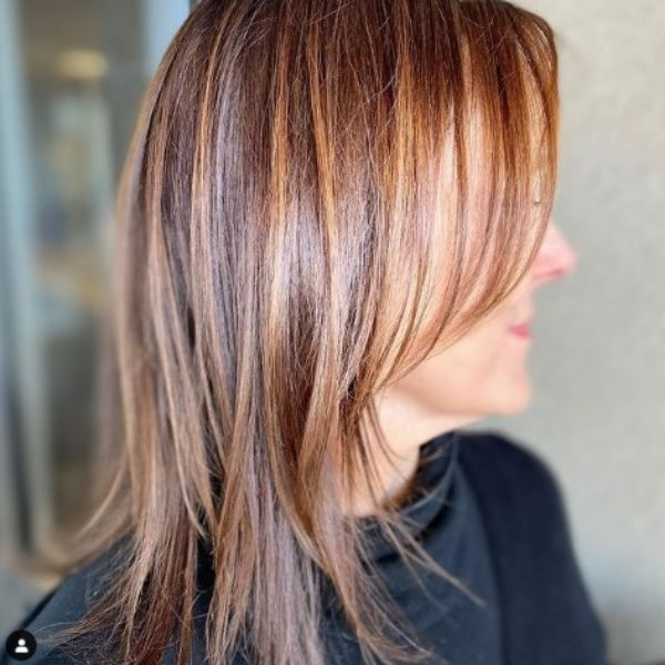 Caramel Balayage With Soft Layers For Long Thin Hair