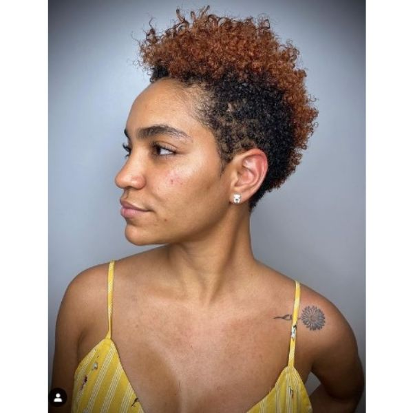Curly Faux Hawk For Short Kinky Curly Hair
