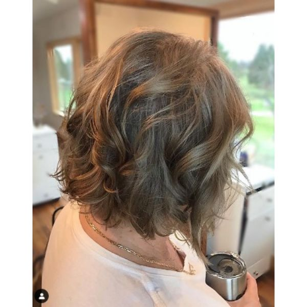 Dark Brown Colored Thin Hair With Messy Waves