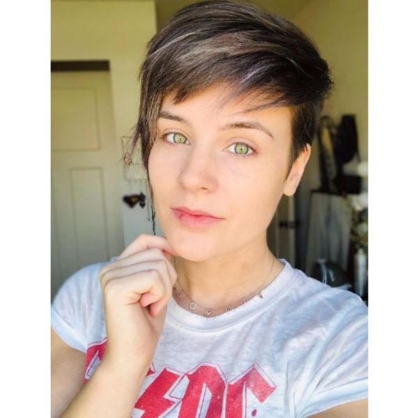Disconnected Pixie Haircut With Subtle Highlights