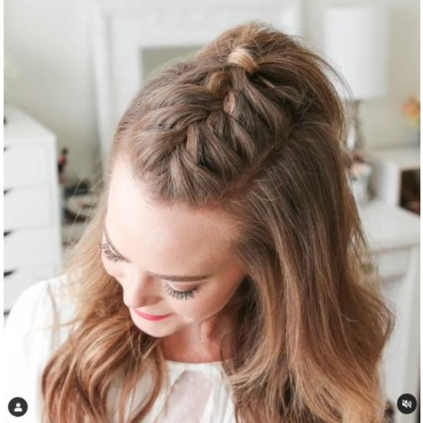 French Mohawk Braid For Blonde Thin Hair