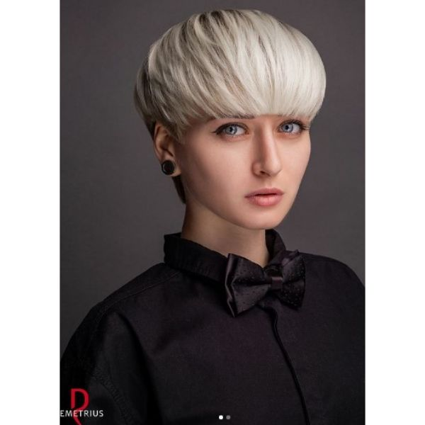 Fringed Haircut With Soft Pixie Cut