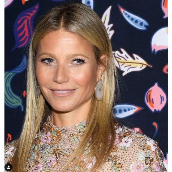 Gwineth Paltrow's Sleek Straight Hairstyle For Blonde Hair