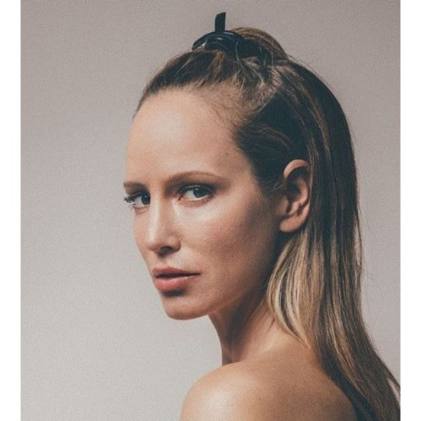 Half Updo for Straight Thin Hair With Dirty Blonde Highlights