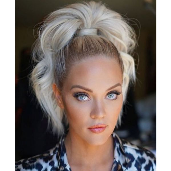 High Curly Hairstyles For Blonde Hair
