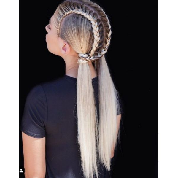 Intricate Pigtails For Blonde Hair