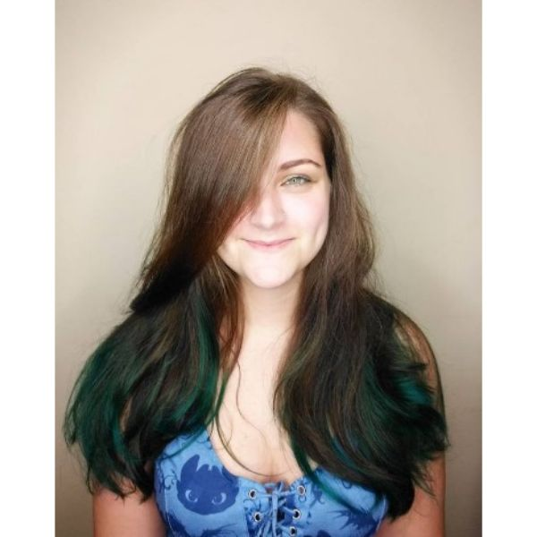 Long Swoopy Layers For Brown Green Thin Hair
