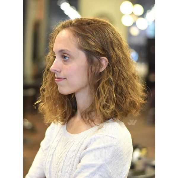 Medium Length Haircut For Wavy Hair