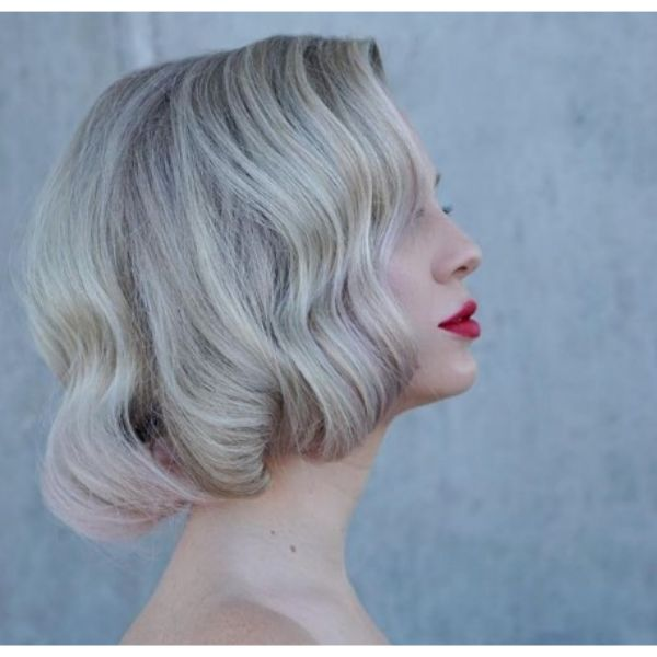 Monroe Style Bob For Blonde Hair With Subtle Waves