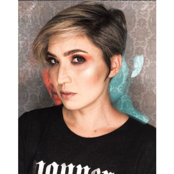 Natural Silver Gray Pixie For Short Hair