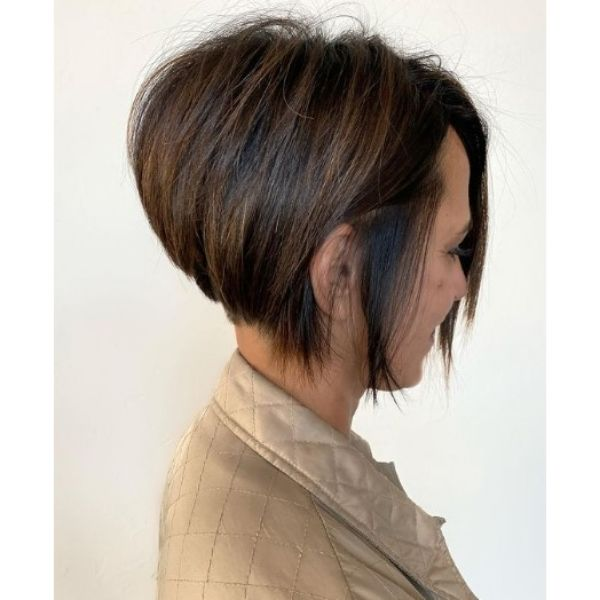 Short Pixie Hairstyle With Blonde Brown Strands