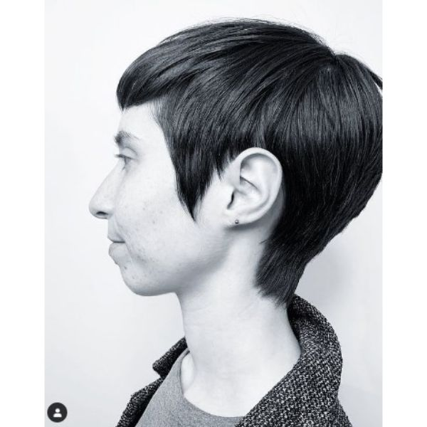Short Soft Haircut For Thin Hair With Pointy Sideburns