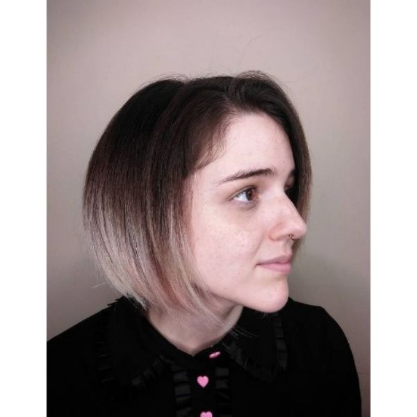 Two-colored Bob With Straight Thin Hair