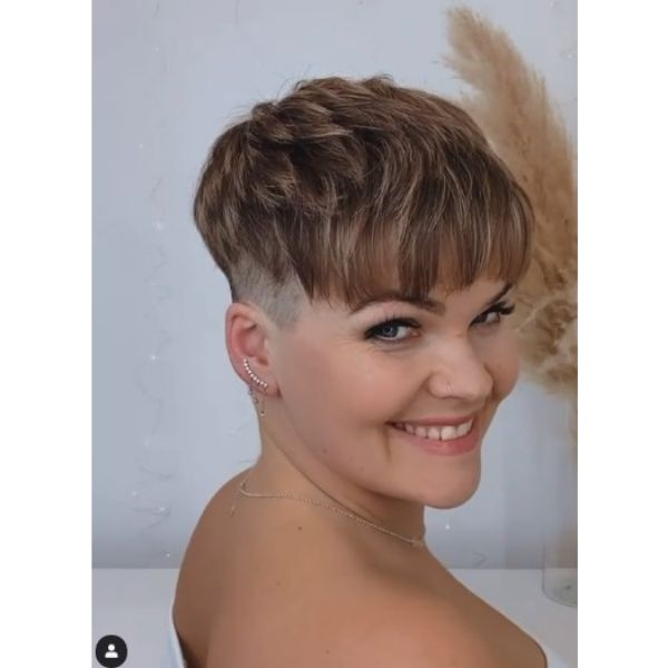 Undercut Pixie Hairstyle with Chopped Bangs
