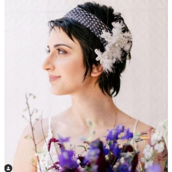 Grown Pixie With Stunning Headpiece