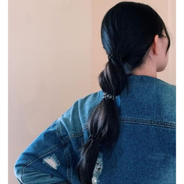 Bubble Ponytail Hairstyles For Long Black Hair