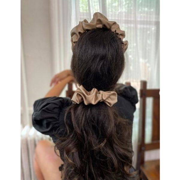 Low Ponytail With Caffe Scrunchie