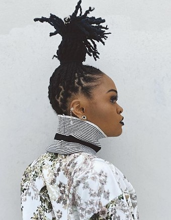Palm-Tree Shaped Ponytail Hairstyle For Braids