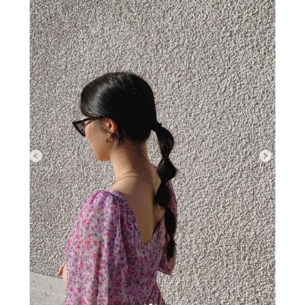 Thin Ponytail Hairstyle For Black Hair