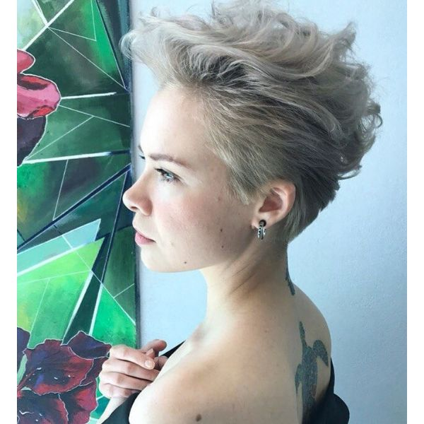 '80s Style Blonde Pixie Cute Short Hairstyle cute hairstyles for short hair
