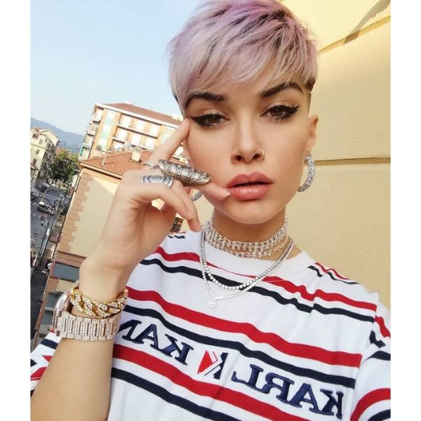 Cotton Pink Cute Short Pixie Hairstyles For Women