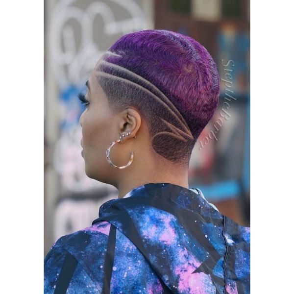 Galactic Purple Short Hairstyle cute hairstyles for short hair