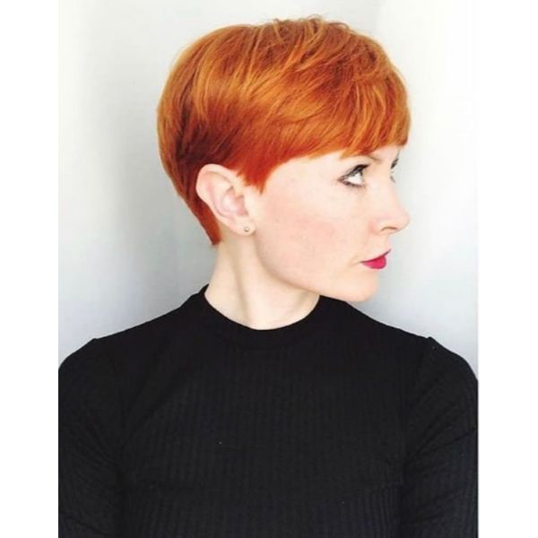 Ginger Red Pixie Cut Cute Short Hairstyles For Women cute hairstyles for short hair