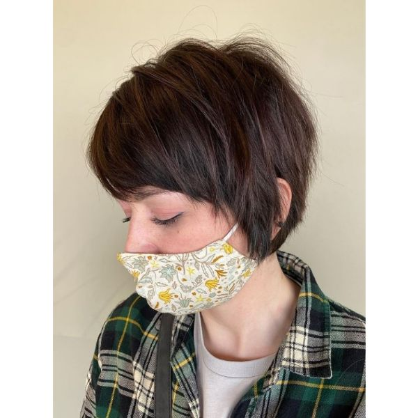 Natural Cute Short Pixie Hairstyle For Women