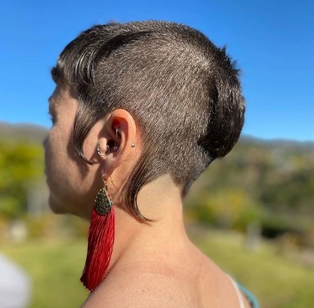 Short Mullet With Long Sideburns
