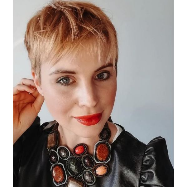 Soft Blonde Pixie With Textured Top cute hairstyles for short hair